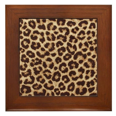 LEOPARD PRINT Framed Tile