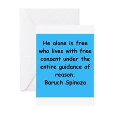 Spinoza Greeting Card