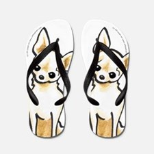 Smooth Chihuahua Cream Please Flip Flops