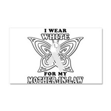 I Wear White for my Mother In Car Magnet 20 x 12