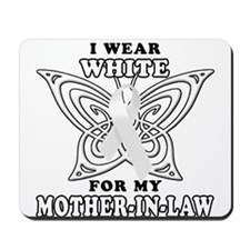 I Wear White for my Mother In Mousepad
