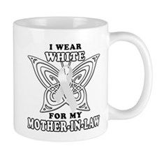 I Wear White for my Mother In Mug