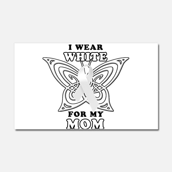 I Wear White for my Mom Car Magnet 20 x 12