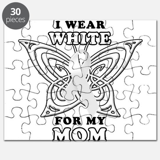 I Wear White for my Mom Puzzle