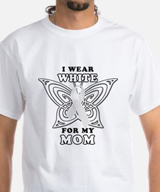 I Wear White for my Mom Shirt