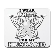 I Wear White for my Husband Mousepad