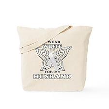 I Wear White for my Husband Tote Bag