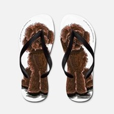 Labradoodle Give me Chocolate Flip Flops