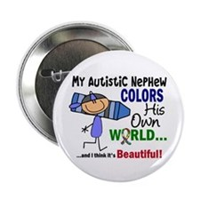 "Colors Own World Autism 2.25"" Button"
