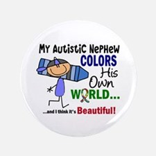 "Colors Own World Autism 3.5"" Button"