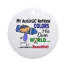 Colors Own World Autism Ornament (Round)