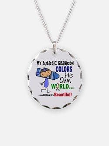 Colors Own World Autism Necklace