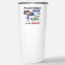 Colors Own World Autism Travel Mug