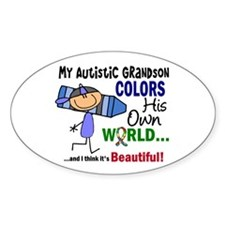 Colors Own World Autism Decal