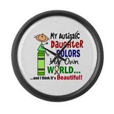 Colors Own World Autism Large Wall Clock