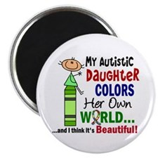 """Colors Own World Autism 2.25"""" Magnet (100 pack)"""
