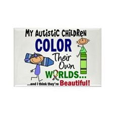 Colors Own World Autism Rectangle Magnet