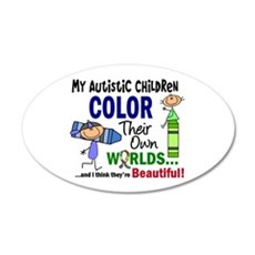 Colors Own World Autism 22x14 Oval Wall Peel