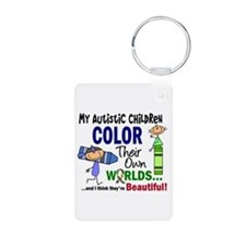 Colors Own World Autism Keychains
