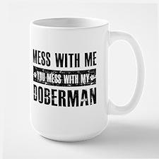 Funny Doberman Design Large Mug