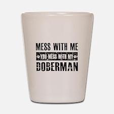 Funny Doberman Design Shot Glass