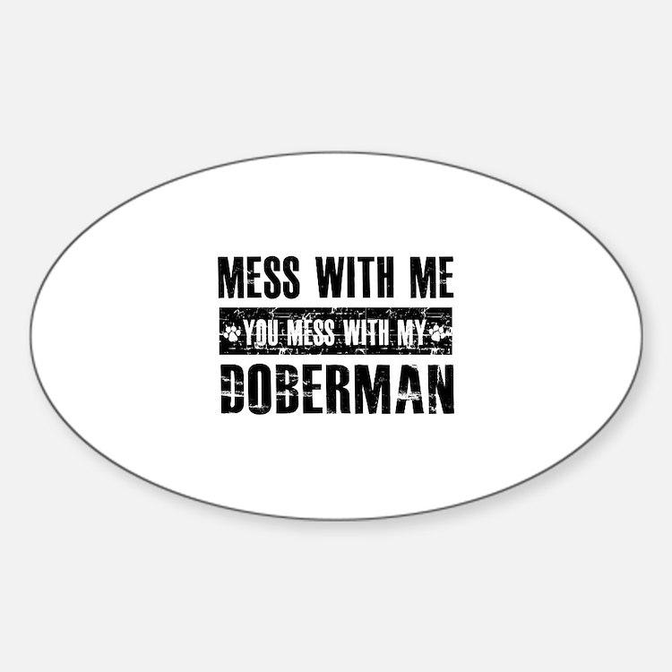 Funny Doberman Design Decal