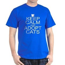 Keep Calm and Adopt Cats T-Shirt