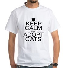 Keep Calm and Adopt Cats Shirt