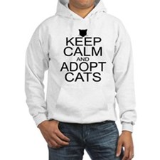 Keep Calm and Adopt Cats Hoodie