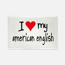 I LOVE MY American English Rectangle Magnet