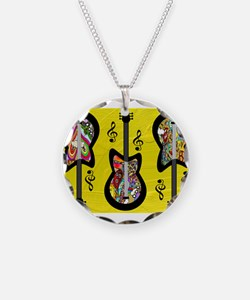 Psychedelic Guitars Necklace