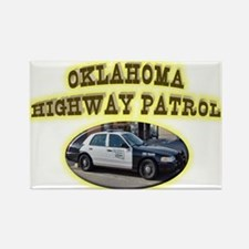 Oklahoma Highway Patrol Rectangle Magnet