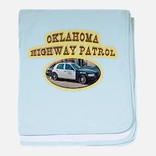 Oklahoma Highway Patrol baby blanket