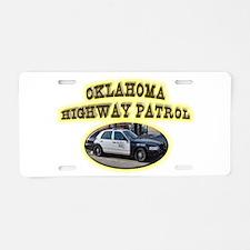 Oklahoma Highway Patrol Aluminum License Plate