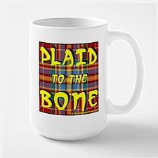 Plaid to the Bone Large Mug