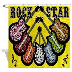 Rock Star Guitars Shower Curtain