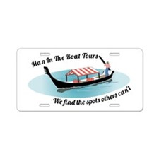 Man in the Boat Aluminum License Plate