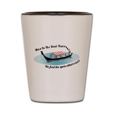 Man in the Boat Shot Glass