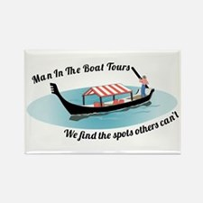 Man in the Boat Rectangle Magnet