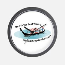 Man in the Boat Wall Clock