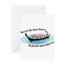 Man in the Boat Greeting Card