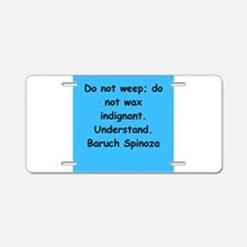 Spinoza Aluminum License Plate