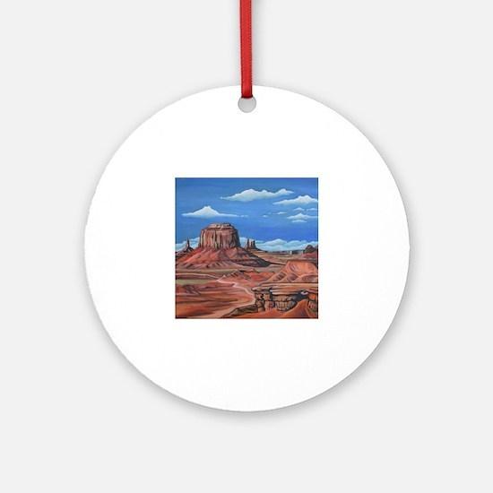 Funny Native art Round Ornament