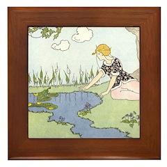Price's Frog Prince Framed Tile