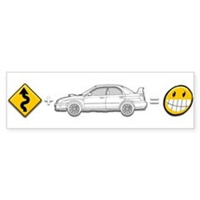 curves subaru fun Bumper Sticker