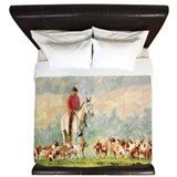 Fox hunting Luxe King Duvet Cover