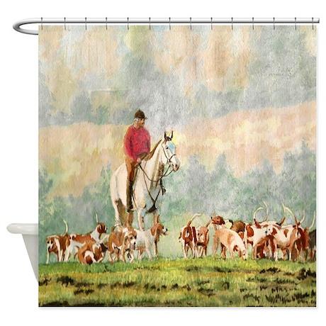 Foxhunt Shower Curtain