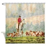 Fox hunting Shower Curtains