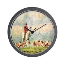 Foxhunt Wall Clock