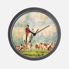 Foxhunt Wall Clock